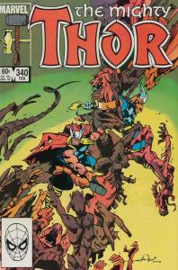 Thor #340 FN; Marvel | save on shipping - details inside