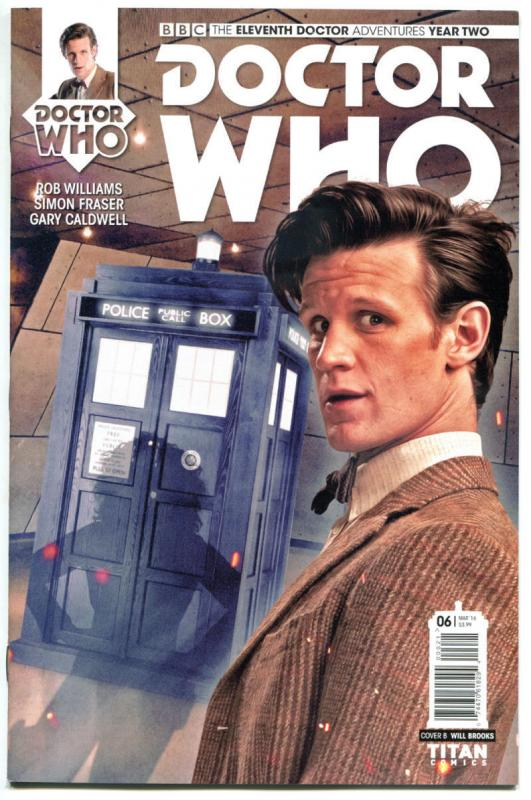 DOCTOR WHO #6 B, NM, 11th, Tardis, 2015, Titan, 1st, more DW in store, Sci-fi