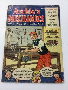 ARCHIES MECHANICS #1 G/VG 3.0 Golden age Archie,Betty,Veronica