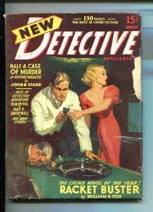 NEW DETECTIVE-#2-AUG 1941-HARD BOILED PULP FICTION-MYSTERY & CRIME-good