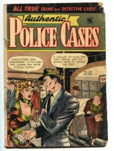 Authentic Police Cases #29 1953 Matt Baker GGA cover Golden-Age G-