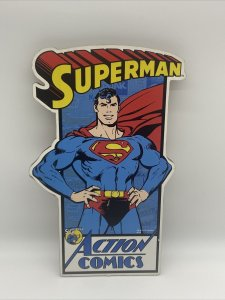 "dc comics superman 15.5""x10""wall hanging"