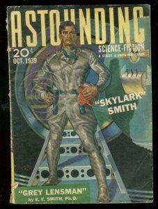 ASTOUNDING SCIENCE-FICTION OCT 1939-SKYLARK SMITH-RARE VG