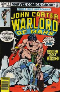 John Carter, Warlord of Mars #3 FN; Marvel | save on shipping - details inside