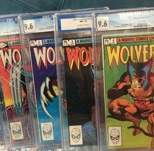 Wolverine Limited Series #1-4 9.6 CGC, X-men