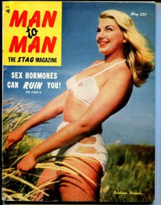 Man To Man 5/1952-Voiliant-Barbara Nichols swimsuit cover-pulp thrills-VG