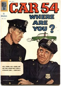 CAR 54 WHERE ARE YOU?-FOUR COLOR #1257-DELL-1962-ROSS & GWYNNE PHOTO COVER