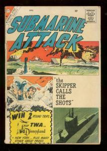 SUBMARINE ATTACK #21 1960-CHARLTON WAR COMICS-GLANZMAN G