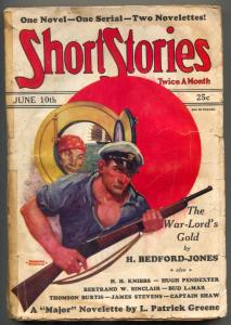 Short Stories Pulp June 10 1930- War-Lords Gold- The Major