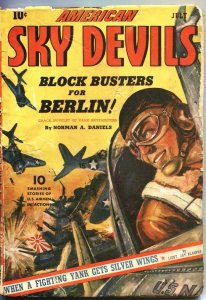 AMERICAN SKY DEVILS #--7/1943-RED CIRCLE MARVEL PULP-NORMAN SAUNDERS ART-WW ll