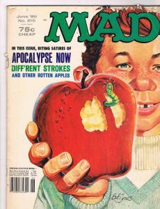 MAD Magazine # 215 MAD E.C. Publication Awesome Issue Funny Gag Magazines!!! S49