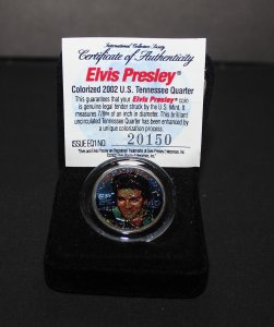 2002 Elvis Presley Colorized Tennessee Statehood Quarter