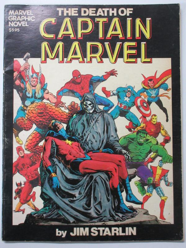 Death of Captain Marvel- Graphic Novel #1 Third 3rd Printing by Jim Starlin B
