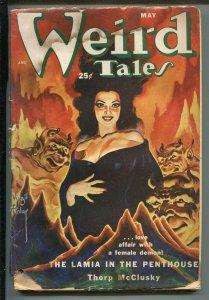 WEIRD TALES 05/1952-HORROR-PULP-VIRGIL FINLAY-pr/fr