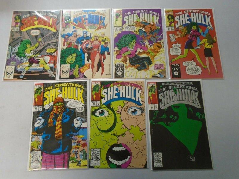 Sensational She-Hulk lot 14 different from #1-50 avg 7.0 FN VF (1989-93)