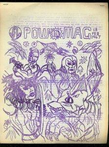 POW #13-FEB 1967-CRUDE COMIC BOOK FANZINE-12 PAGES-RARE FN