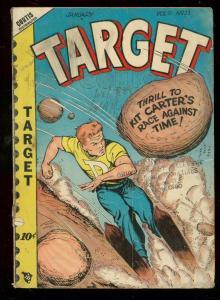 TARGET COMICS v.9 #11 1949-CADET-DON RICO GOOD GIRL ART VG