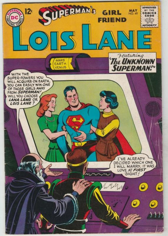 Superman's Girlfriend Lois Lane #49 (May-64) FN/VF Mid-High-Grade Superman, L...