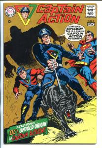 CAPTAIN ACTION  #1 1968-DC-1ST ISSUE-SUPERMAN COVER-WALLY WOOD-fn/vf