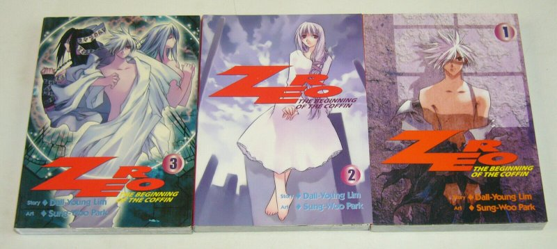 Zero: the Beginning of the Coffin vol. 1-3 VF/NM complete set infinity manga
