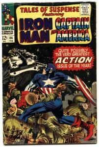 TALES OF SUSPENSE #86 1967-iron man-CAPTAIN AMERICA