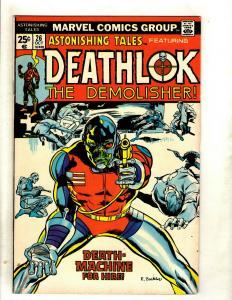 Lot Of 4 Astonishing Tales Feat. Deathlok Marvel Comic Books # 26 27 28 30 RS1