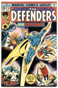 THE DEFENDERS #28  1975-STARHAWK Comic Book VF-