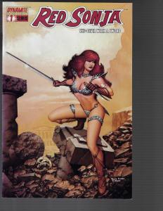 Red Sonja #1 (Dynamite) -   Paolo Rivera cover.