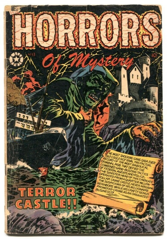 Horrors of Mystery #13 1953- LB COLE HORROR COVER- G