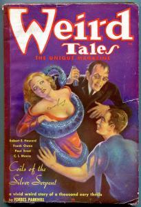 Weird Tales Pulp February 1936- Brundage- Robert E Howard- Snake cover