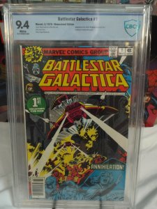 Battlestar Galactica #1 - CBCS 9.4 - White Pages - Newsstand Edition!
