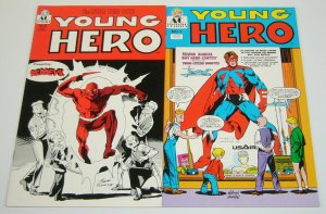 Young Hero #1-2 VF- complete series - little wise guys - golden age daredevil