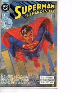 DC Comics (1991) Superman The Man of Steel #1 1st App. Eradicator