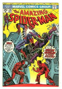 Amazing Spiderman 136   1st Harry Osborn as Green Goblin   Mark Jewelers Insert