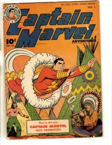 Captain Marvel Adventures # 53 FN Fawcett Comic Book Indian Smoking Cover 46 JL9