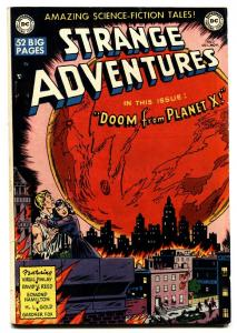 STRANGE ADVENTURES #2 comic book 1950-DOOM FROM PLANET X-DC COMICS FN+