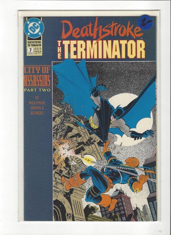 Deathstroke, the Terminator #7 (Feb 1992, DC) Vs Batman NM