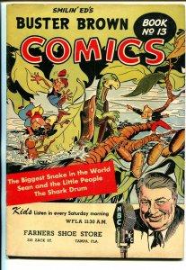 Buster Brown  #13 1940's-snake terror story-shark story-FN-
