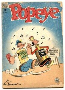 Popeye #8 1949- Dell Golden Age- Sagendorf F/G