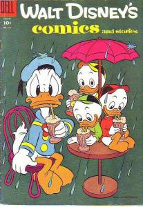 Comics and Stories, Walt Disney's #179 (Aug-55) FN- Mid-Grade Donald Duck, Hu...