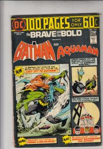 Brave and the Bold, The #114 (Sep-74) FN Mid-Grade Batman, Aquaman