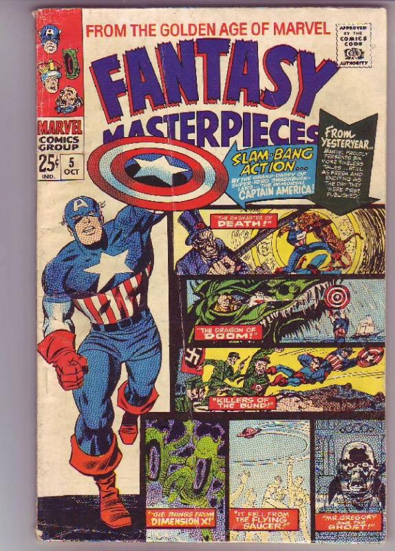 Fantasy Masterpieces #5 (Oct-66) VG Affordable-Grade Captain America, Bucky B...