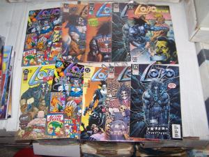 lot of 10 lobo comics +Lobo's Back #1 portrait of a victim  convention special