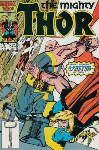 Thor #374 VF/NM; Marvel   save on shipping - details inside