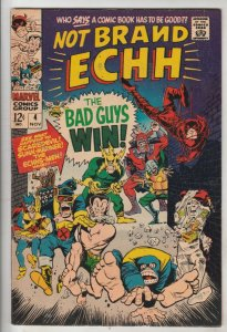 Not Brand Echh #4 (Nov-67) FN/VF Mid-High-Grade Thor, Hulk, Captain America
