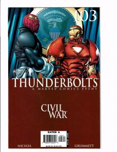 Lot Of 3 Thunderbolts Marvel Comic Books # 103 104 105 Civil War Tie-In J123