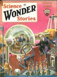 SCIENCE WONDER STORIES #9-FEB 1930-TERROR COVER-FRANK R PAUL-PULP