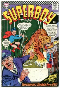 SUPERBOY #130 1966-DC COMICS-WILD TIGER COVER VIOLENT G/VG