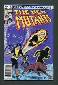New Mutants #1 / 8.5 VFN+ Newsstand  March 1983