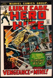 HERO FOR HIRE #2-1972-LUKE CAGE-First Claire Temple-MARVEL